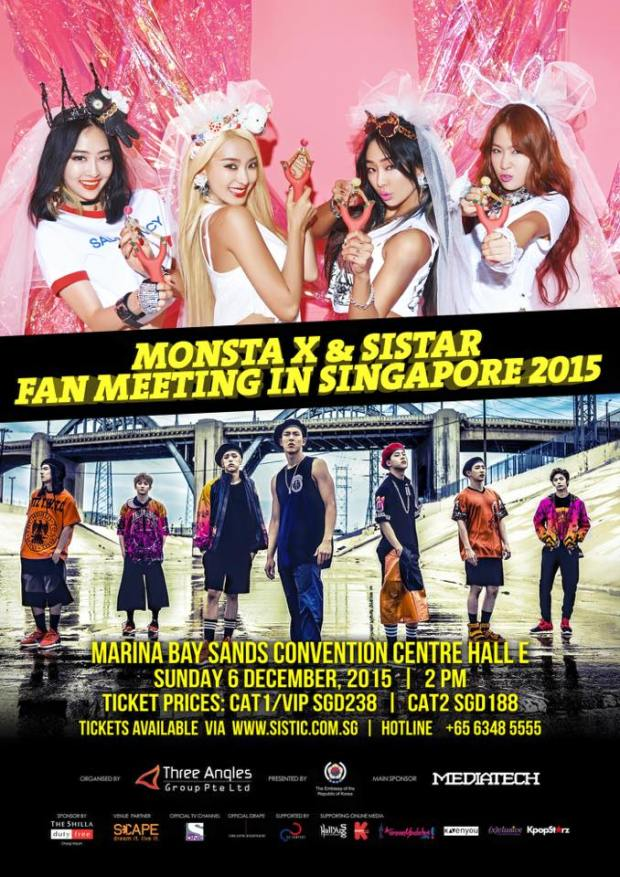 MonstaX and Sistar Fanmeet in Singapore