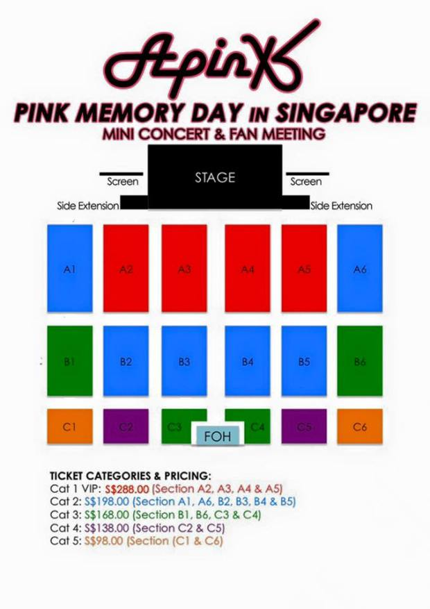 APINK IN SINGAPORE 2016 - koreanupdates - seatplan