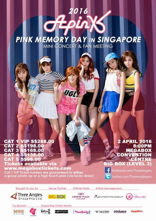 APINK IN SINGAPORE 2016 - Koreanupdates