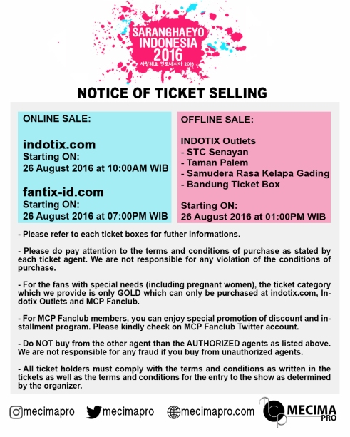 SARANGHAEYO - TICKETING - EN