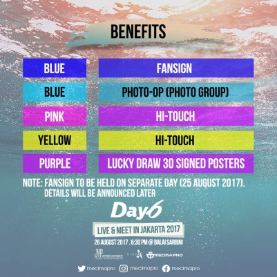 DAY6 JKT BENEFITS